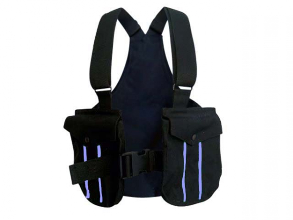 Picking-up vest Trainer svart/lila i gruppen Jakt / Picking-up vests/Belts / Trainer cordura hos PAW of Sweden AB (6004PU)